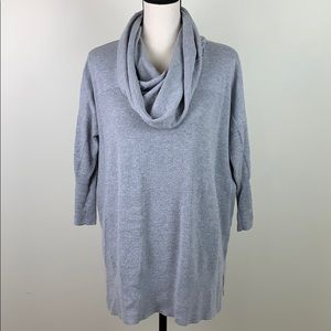 If it were me gray cowl neck oversized sweater